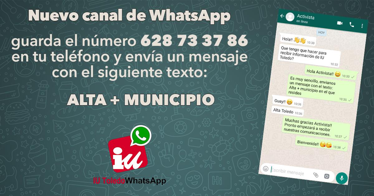 Tarjeta llamamiento whatsApp
